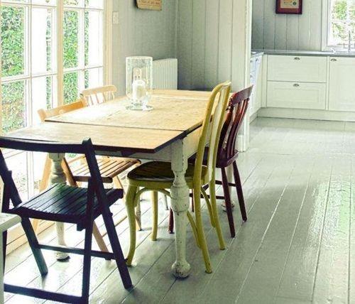 Últimas tendencias en decoración comedores vintage con sillas mix and match 11