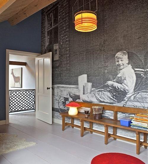 C mo decorar paredes originales con fotomurales de for Paredes originales