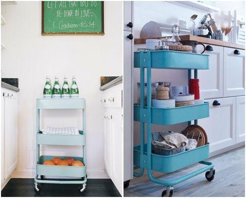 Cómo transformar camareras de cocina Ikea Rastog en muebles de almacenaje 4
