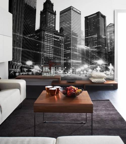 Como decorar paredes originales con fotomurales de ciudades 6
