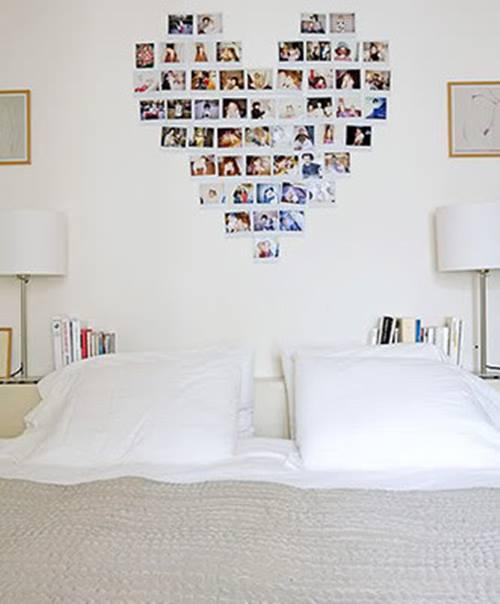 Decorar con fotos, ¡y dar vida a las paredes con un corazón! 1