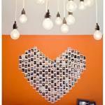 Decorar con fotos, ¡y dar vida a las paredes con un corazón!