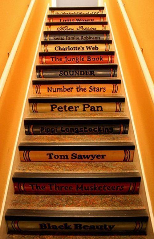 Decorar escaleras con ideas creativas para hacer tú mismo 3