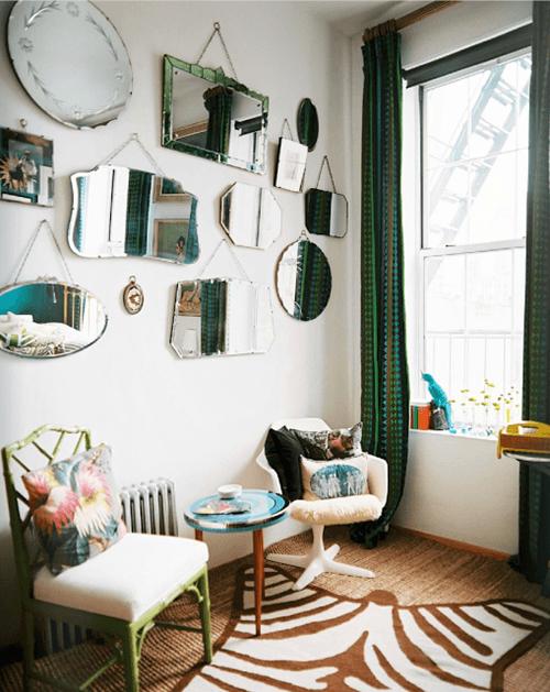 Espejos decorativos para habitaciones vintage 1