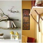 Más ideas para decorar con ramas secas repisas modernas con toque rústico 2