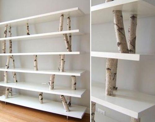 Más ideas para decorar con ramas secas repisas modernas con toque rústico 4