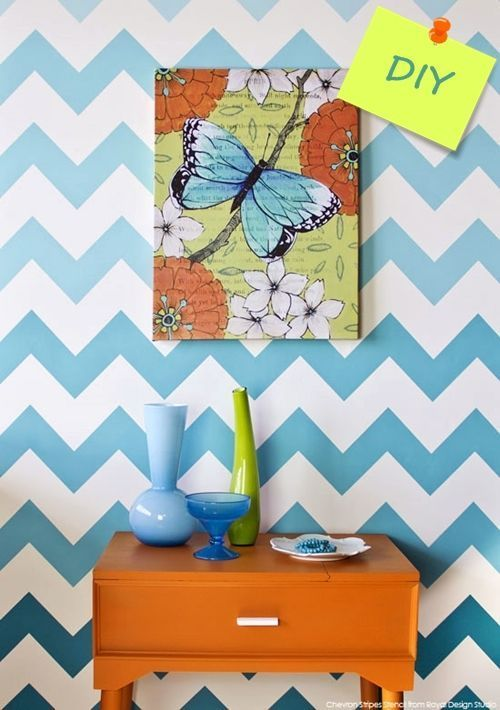 Nuevas ideas geométricas con plantillas para pintar paredes 1