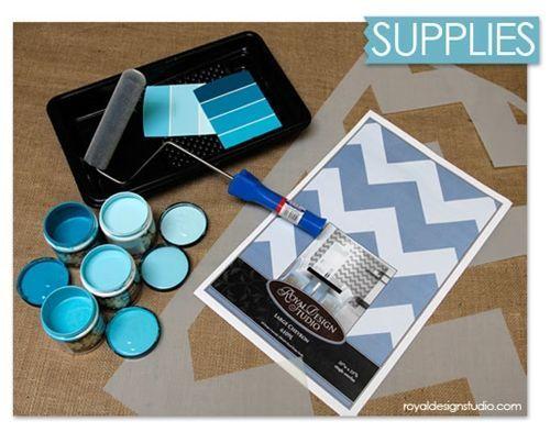 Nuevas ideas geométricas con plantillas para pintar paredes 2