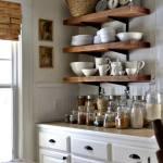 Estanterías de madera baratas para cocinas con encanto