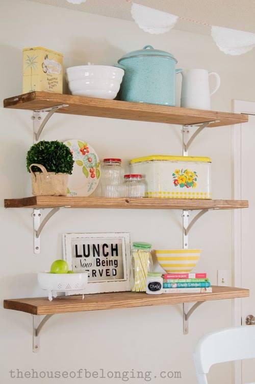 Estanter as de madera baratas para cocinas con encanto for Estanterias oficina baratas