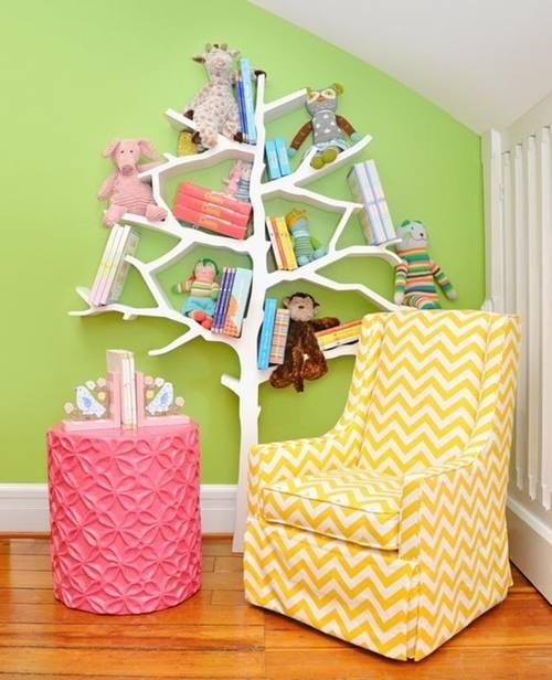 Estanterías originales para libros en forma de árbol 8