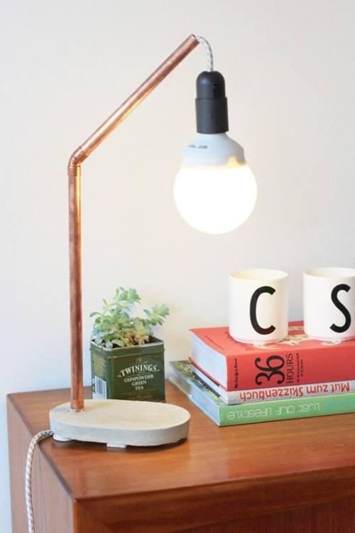 Lámparas de noche recicladas siguiendo la tendencia cobre 1