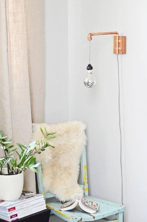 Lámparas de techo cool en tubo de cobre 6