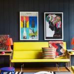 Muebles de colores para una decoración de interiores atrevida y singular