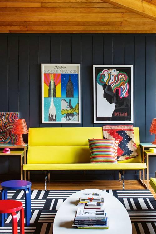 Muebles de colores para una decoración de interiores atrevida y singular 7