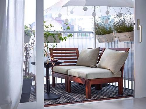 Muebles de terraza para espacios pequeños by Ikea 10