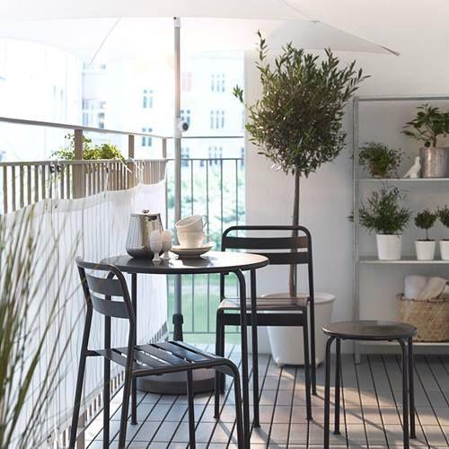 Muebles de terraza para espacios pequeños by Ikea 2
