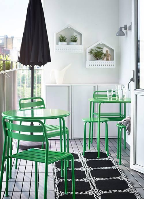 Muebles de terraza para espacios peque os by ikea for Muebles para terraza pequena