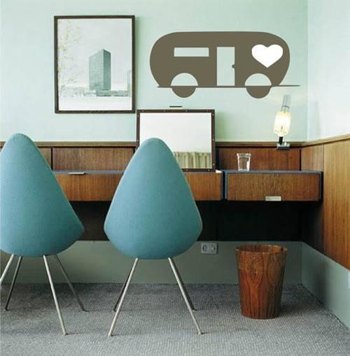 Vinilos decorativos para decoración de interiores vintage 5