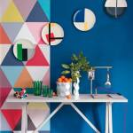 Decoración retro con triángulos Eames multicolor  8