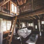 Genuina cabaña de madera sobre los árboles para vivir 1