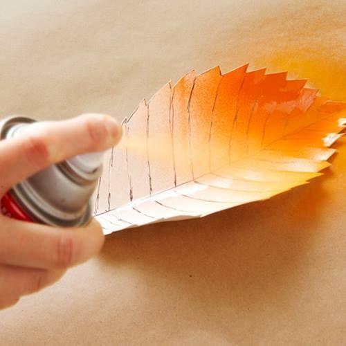 Hacer cuadros decorativos con hojas secas 4