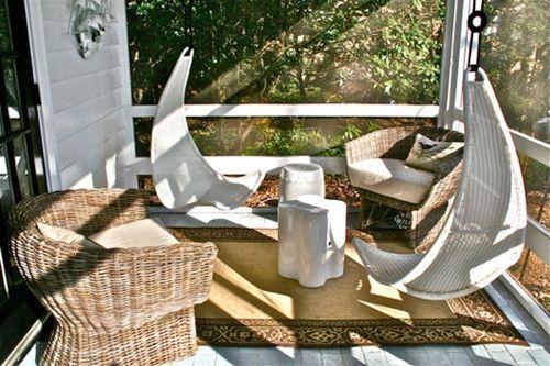 Muebles de jard n con efecto relax hamacas columpios for Mecedoras de jardin