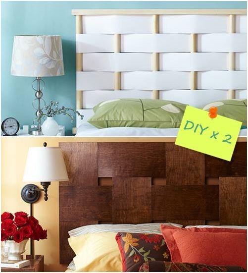 Cabeceros de cama originales para hacer con tiras entrelazadas 1