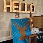 Decoración vintage con rótulos luminosos para la casa  2