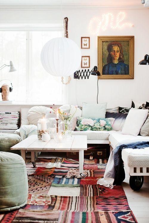 decoracion vintage con rotulos luminosos para la casa