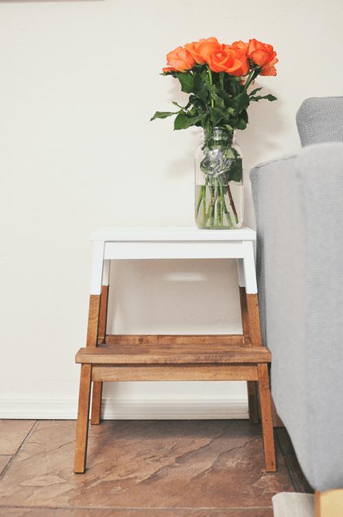 Tunear muebles Ikea una escalera de madera con mil y un usos 1