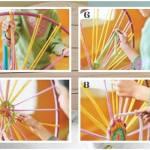 como hacer una alfombra de trapillo con un hula hoop 3