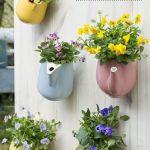 Divertida idea de teteras con plantas para decoración vintage