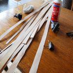 Cómo hacer una lámpara moderna con chapa de madera 5