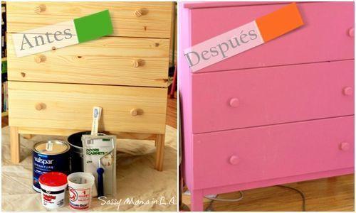 Cómo hacer chalk paint o pintura a la tiza en casa para pintar muebles de pino.