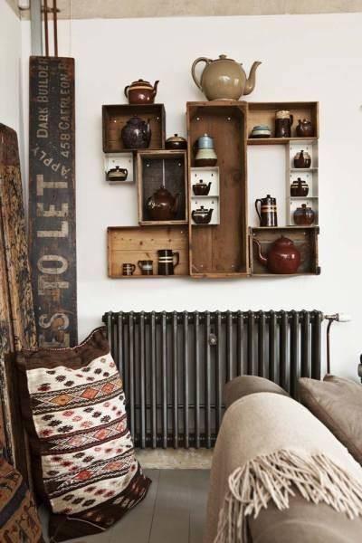 Estanterías decorativas con aire vintage chic 10