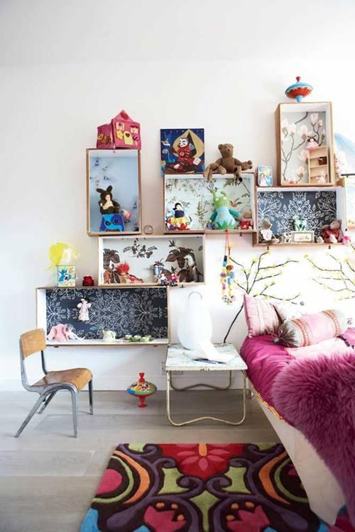Estanterías decorativas con aire vintage chic 7