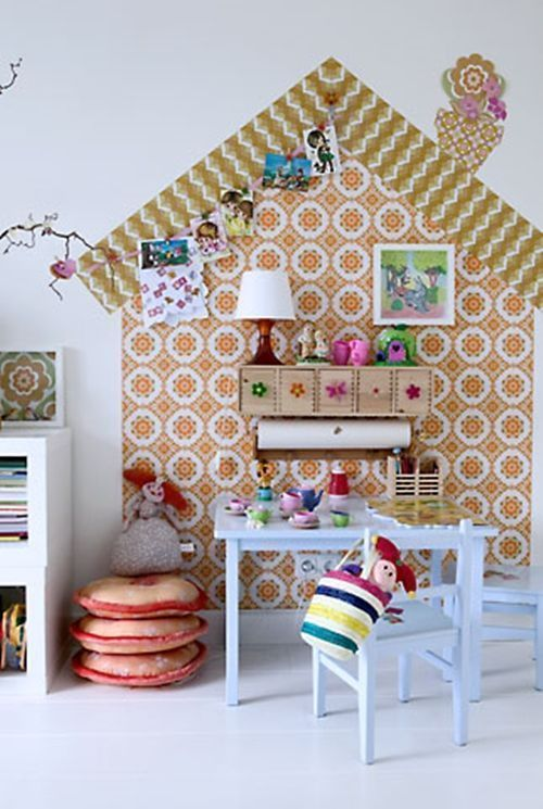 Ideas para decorar con papel pintado vintage 1