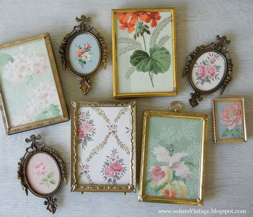 Ideas para decorar con papel pintado vintage 6