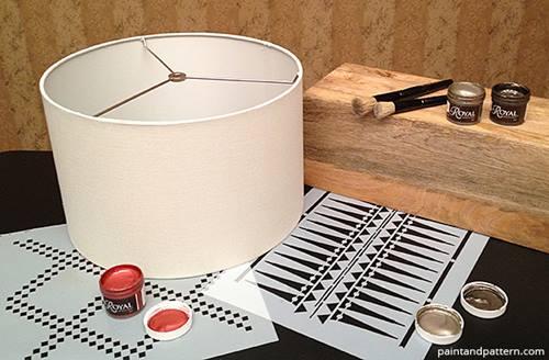 lmparas de mesa originales con plantillas de stencil de estilo tnico