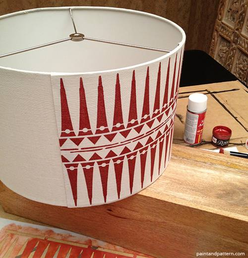 L mparas de mesa originales con plantillas de stencil de for Lamparas de mesa originales