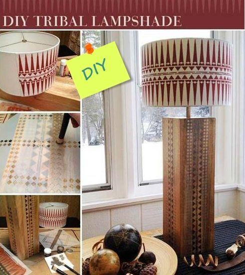 Lámparas de mesa originales con plantillas de stencil de estilo étnico 7