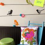 Plantillas para pintar paredes alegres con pájaros