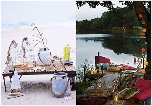10 ideas para decorar un picnic en la playa, el campo, el lago... 7