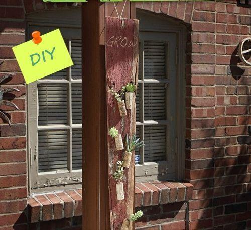 Manualidades para decorar la casa idea con plantas crasas reciclando tapones de corcho 1