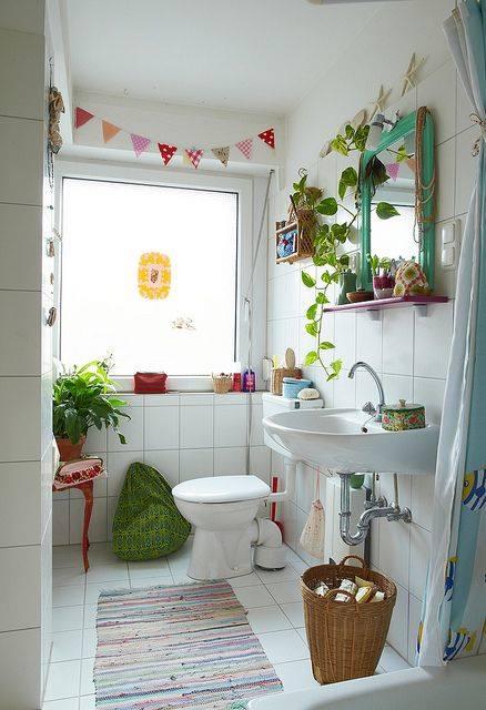 Decoración de cuartos de baño pequeños con ideas vintage ...