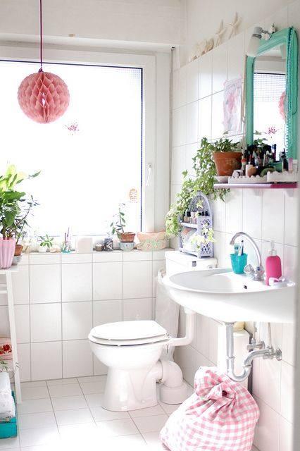 decoracion de cuartos de baño pequeños con ideas vintage 2