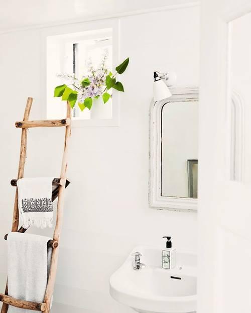 decoracion de cuartos de baño pequeños con ideas vintage 4