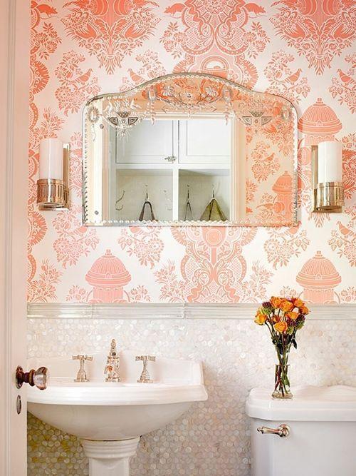 Decoraci n de cuartos de ba o peque os con ideas vintage for Decoracion para cuartos de bano