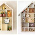 Ideas para decorar con una estantería casita de madera 2